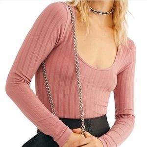 NWT Free People Lucky You Scoop Neck layering top